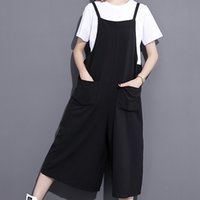 Wholesale Two Piece Shirt Pattern - 2017 New Pattern Concise Round Collar Short Sleeve White Color T-shirt And Black Largesize Wide Leg Pants Two Piece L67301