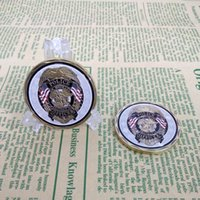 Wholesale Police Challenge Coins - saint l 1PC new arrival Police Officer ST Michael Patron Saint of Law Enforcement Challenge ,Bronze Plated Coin,United State Coin