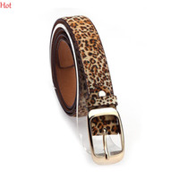 Fashion Women Belt Hot Ladies Faux Ceintures en cuir Formal Metal Clip Buckle Straps Accessoires de mode Leopard Pant Belt Black White SV012754