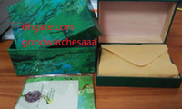 Wholesale Paper File Box - hot High Quality Watch Box Papers File Card Green Gift Boxes 116610 116660 326934 116520 116710 116613 116500 118239 228239 178273 Watches