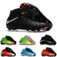 Wholesale Mens high ankle FG soccer cleats Hypervenom Phantom III DF soccer shoes neymar IC football boots cleats TF football shoes Cheap s
