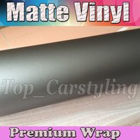 Wholesale Matte Metallic Grey Vinyl Car Wrap Film With Air release Gray Matt Vinyl For Vehicle Wrapping Covering foil x30m Roll ftx98ft