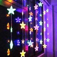 Wholesale Christmas Light Curtain Price - Wholesale- High Quality 138 LEDs Crystal Star LED String Light Christmas Wedding Decoration Holiday Curtain Lights Night Light Best Price