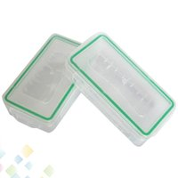 Wholesale Protective Plastic Boxes - 18650 Battery Box Waterproof Case Plastic Protective Storage Translucent Battery Holder Storage Box for 18650 and 16340 Battery DHL Free