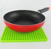 Wholesale silicone pot holders resale online - 7 inch Silicone Pot Holder Trivet Mat jar Opener spoon Rest Non Slip Flexible Durable Heat Resistant Hot Pads
