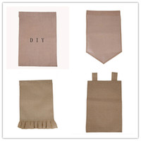 "Wholesale Fast Flags - DIY Burlap Garden Flags 4Styles 12""Wx18""H DIY Jute Liene Yard House Decorative Hanging Flag Courtyard Printed Ads Flags fast shipping"