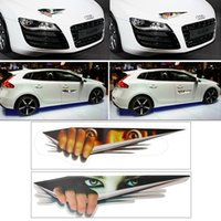 Lustige Auto Sticker 3D Augen Spähen Monster Aufkleber Voyeur Car Hoods Trunk Thriller Rear Window Decal