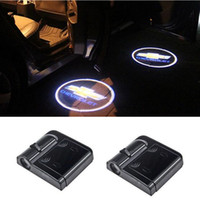 Wholesale Chevrolet Cruze Door - Wireless Led Car Logo emblem door welcome Light For Chevrolet Cruze Aveo Captiva Lacetti Sail Sonic Camaro Orlando Epica Corsa