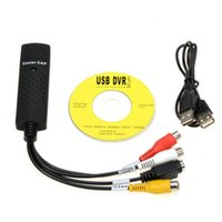 vhs dvd adaptador usb al por mayor-USB 2.0 a 3 RCA Audio S-Vídeo Easycap TV DVD VHS RW AV Video Captura Convertidor Adaptador Fácil Cap Tarjeta Cable para vista win8 win7