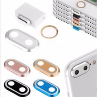 Wholesale Apple I Ring - 4 In 1 Set Camera Lens Protector Ring Case & Touch ID Support Home Button sticker & Cable protector & Anti Dust Plug Set For I 7plus 7