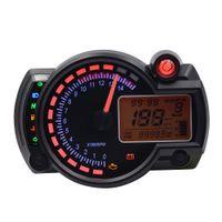 Wholesale Bike Tachometer - Universal 12V CS - 342 Multi-functional Motorcycle Motorbike LCD Digital Instrument Speedometer Odometer Motor Bike Tachometer 181604401
