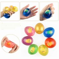 ingrosso gel giocattolo palla-giocattoli per bambini Soft Gel Egg Stress Ball Hand Finger Therapy Therapy Stress Spremere Sollievo Palla Decompression Toy