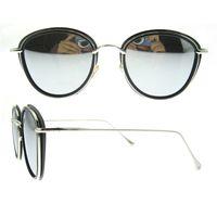 Wholesale China Eyeglasses Frames - Oval full-rim tr90 frame silver grey blue polarized lens popular hot china wholesale women men sunglasses