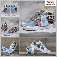 Wholesale Toys Springs - 2017 Toy Story X  Cow Shoes High Tops Low Cut Black White Casual Canvas Shoes For Women Mens Skateboard Sneakers 35-44