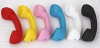 Wholesale Telephones For Iphone Ipad - Retro design Wireless Cheap Telephone Receiver Anti Radiation Handset Microphones for iPhone iPad Mac 7 Colors