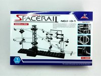 Wholesale- [LIVRAISON GRATUITE] Easy Space Rail set, Roller Coaster Kit, Building Blocks Toys.233-1 Spacerail