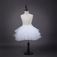 Brand New Girls Petticoats for Flower Girl Dress Weddings 3 Layers Hoopless White Short Kids Formal Wear Crinoline Children Child Underskirt