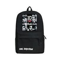 Wholesale 1d Cartoon - Cartoon Style One Direction Backpack Khaki Color Or Black Oxford Bag 1D Backpacks Singer Shoulder Bags for Fans Students School Bag