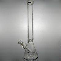 Wholesale glass water walls - 20 Inches Big Glass Bongs Beaker Bong 9mm Thickness Glass Wall Super Heavy Water Pipes With 14.4 mm Male Joint Glass Bowl