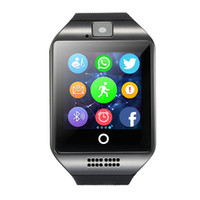 Smart Watch Q18 con la fotocamera Facebook Whatsapp Sync SMS Smartwatch MP3 Supporto SIM TF Card smart orologi android T30