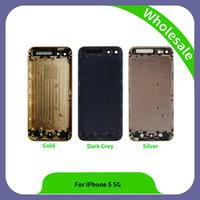 boîtier arrière de l'iphone 5g achat en gros de-Assemblage de haute qualité pièces de lunette arrière pour iPhone 5 5g Couverture arrière logement de batterie de téléphone mobile pour iPhone 5 5g