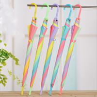 Wholesale High Fashion Umbrella - Transparent Umbrella Multicolor Fashion Creative High Quality Long Handle Bumbershoot Wide Range Of Uses Hot Sell 3 7yy R