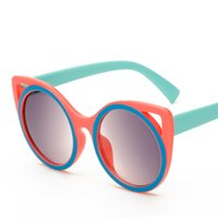 Wholesale Cat Ear Wrap - Seasonal Boys and Girls Sunglasses High-definition Anti-UV Sunglasses Cute Cartoon Cat ear Models Female Trend Sunglasses