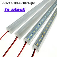 Wholesale High Corner - fast ship DC 12V 50cm Wall Corner LED Bar Light led strip High Brightness smd 5730 desk table light Rigid LED Strips lighting