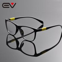 verres à la mode achat en gros de-Wholesale- 2016 New Fashion Unisex Hommes Femmes Ultra Light Full Rim Durable Square Clear Lens Optical Eye Glasses Cadre 3 couleurs EV1328