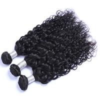 ingrosso i capelli brasiliani di qualità si intrecciano-Alta qualità può essere tintura Ombre colore naturale brasiliano peruviano indiano malese capelli onda naturale brasiliana capelli umani estensioni del tessuto
