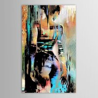 Wholesale nude girl paintings resale online - Framed Hand Painted Modern Abstract Graffiti Nude Girl Art painting On High Quality Canvas for Home Wall Decor size can be customized