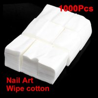 Wholesale Makeup Remover Cotton Pad - 1000 Pcs Nail Wipe Cotton Makeup Wipes Cotton Pads For Nail Art Polish Acrylic Gel Tips Remover Cleaner