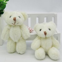Wholesale Ted Bear Toy Wholesale - 50pcs lot Kawaii Small Joint Teddy Bears Stuffed Plush8CM Toy Teddy-Bear Mini Bear Ted Bears Plush Toys Wedding Gifts 005