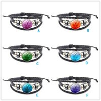 Moda 6 cores Game Of Thrones Dragão Egg Snap button Charm Bracelets Couro trançado Multilayer Scale Snaps Punk Bracelet Jóias