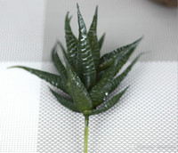 Wholesale Display Felt - Artificial hand feeling PVC aloe succulent greenery leaf plants silk flower for wedding bridal bouquet home party holiday decoration 17673