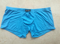 Wholesale Cockcon Transparent Boxer Shorts - Wholesale COCKCON Mens Underwear Transparent Boxer Shorts Ultra Thin Ice Silk Shorts Low-Rise Male Sexy Pants 809