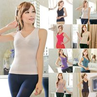 Großhandel-Hot Body Shapers Frauen Weste Tight Taille Trainer Shirt Sleeveless Tops T-Shirts Shapewear Tops