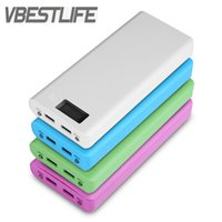 VBESTLIFE Pas de batterie 8x18650 Bricolage 5V 2A Batterie Power Bank Boîtier Coque Case à cristaux liquides Écran LCD Double USB 2 ports Powerbank Protector Case
