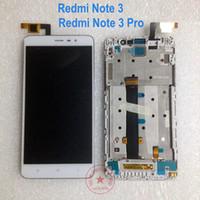 nota lcd siyah toptan satış-Toptan Satış - Siyah / Beyaz / Altın Test Çalışması Note3 LCD Ekran Dokunmatik Ekran Digitizer Meclisi için çerçeve ile Xiaomi Redmi Not 3 Pro Değiştirme