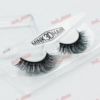 Wholesale Oem Orders - 18 design mink 3d hair Hand-made eyelashes single pack in plastic case multilayer crisscross thick False eyelashes OEM order with your logo