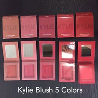 Wholesale Powder X - 2017 Makeup Kylie Matte Pressed Powder Blush 5 Colors X Rated Barely Legal Virginity Hot and Bothered Hopeless Romantic