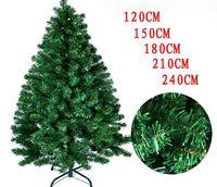 Wholesale Plastic Pine Needles - 2017 new Christmas decoration supplies Christmas tree 1.2 1.5 m 1.8 m 2.1 m pine needle iron foot plastic plastic Christmas tree