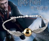 bracelet de salut achat en gros de-Vente en gros-2017 Hot bracelets bracelets le film la mort or plaqué pour reliques Harry B Potter Bracelet Drop hommes livraison gratuite