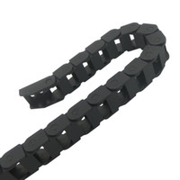 Wholesale 1pc Black Transmission Chains Plastic Reinforced Nylon Cable Drag Chains For Pipes Tubes Protection