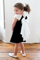 special occasion dresses full length Canada - Princess Girls Bowknot Lace Dress For Baby Kids Black Velvet Lace Bow Dress Skirts Children Full Dancing Special Occasion Dress Skirts