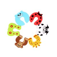 tarjetas de mono al por mayor-Al por mayor-8 PCS Tiger Giraffe Butterfly Monkey Seals Vacas Cartoon Baby Safety Gate Card Baby Door Stopper
