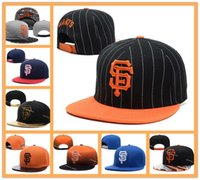 Wholesale Sport H - Wholesale Men's San Francisco Giants Snapback Hats Team SF Logo Embroidery Sports Adjustable Baseball Caps Hip Hop Leather Flat Visor H