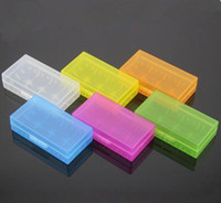 Wholesale Plastic Battery Case Cover Box Colors Holder Storage Container Battery Holder Box For MNKE Sony VTC5 VTC4 Battery