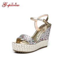 2017 Summer New Fashion Comfortable Platform Thick Golden Sandals Femme Acheter Discount Womens Shoes Online Silver C2S