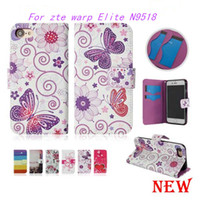 Wholesale Elite Cases - Wallet Case For zte warp Elite N9518 Flip PU Leather Case Cover Card Slot For Alcatel one touch Elevate Opp Packag